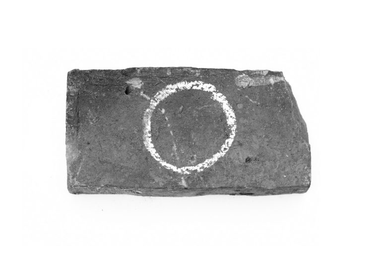 circle drawn with plaster